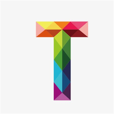 colorful letters t letter t colorful png image and