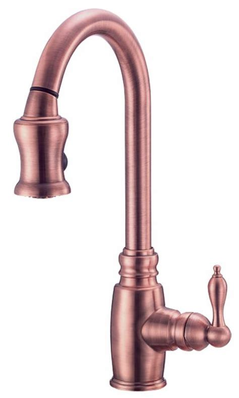 danze opulence kitchen faucet faucet d454557ac in antique copper by danze