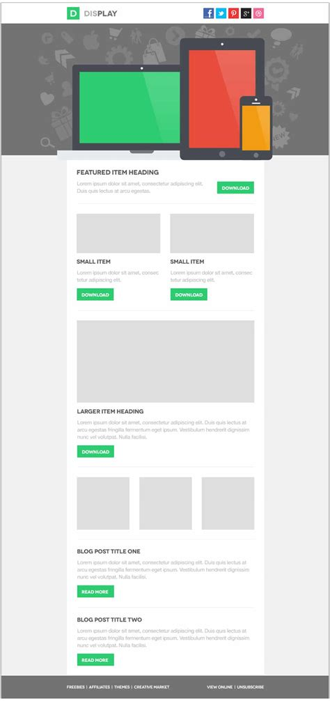 Free Email Newsletter Templates Psd 187 Css Author Email Template Free