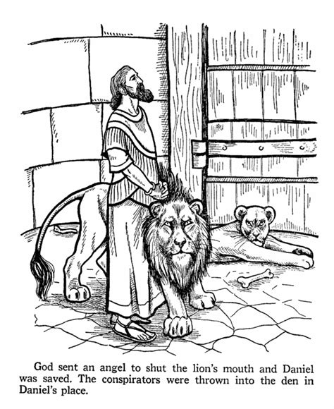 printable coloring pages daniel and the lions den daniel and the lions den coloring page captivity book of