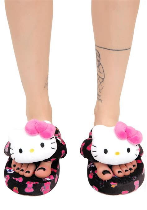 hello slippers sanrio hello hide seek bath slippers dolls kill