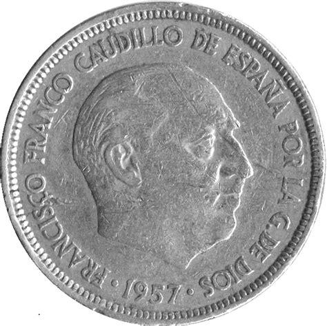 franco caudillo de espana 8466337482 5 pesetas franco espagne numista