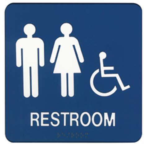sign for bathroom restroom signs demco