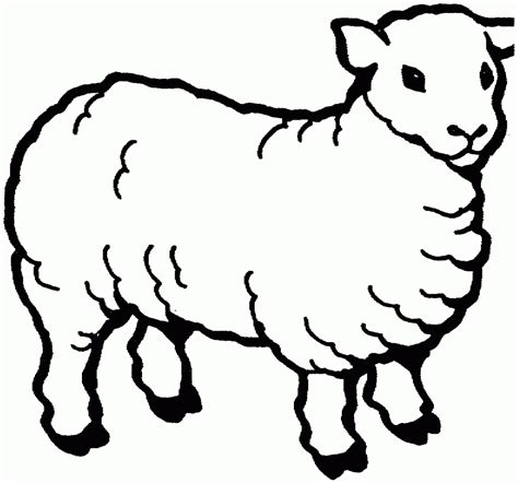 Coloring Page For by Free Printable Sheep Coloring Pages For