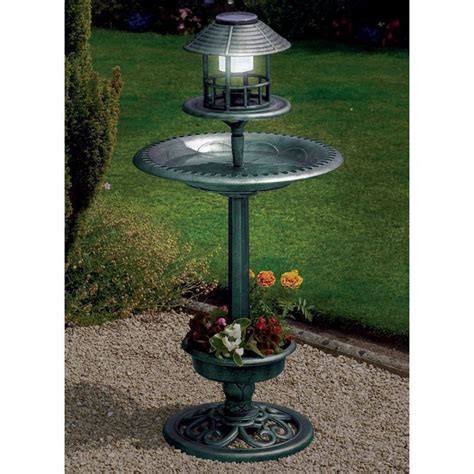 solar bird bath buy online at qd stores