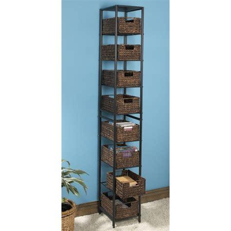 new multipurpose 8 basket metal storage tower in black ebay