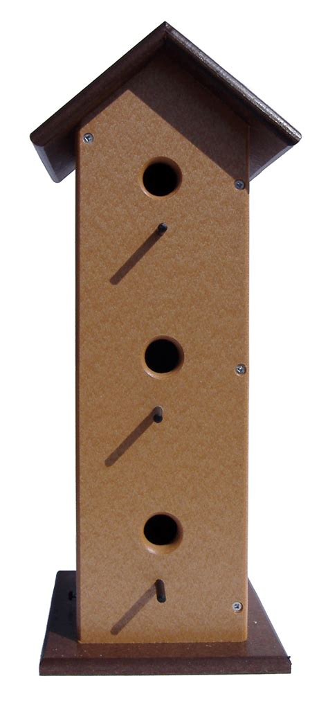 trio house trio poly bird house poly wood solid color uv resistant