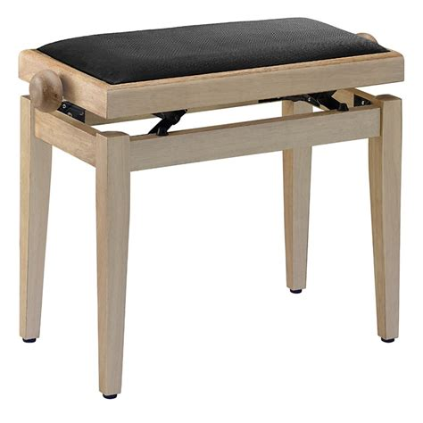 piano bench adjustable height musician s gear adjustable height piano bench black velvet top natural matt finish