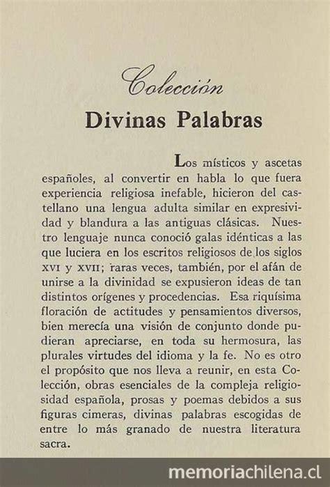 libro divinas palabras anuncio de colecci 243 n divinas palabras de la editorial cruz del sur 1946 memoria chilena