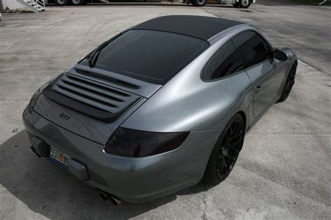 porsche wrapped porsche 911 carbon fiber hood roof wrap fort lauderdale