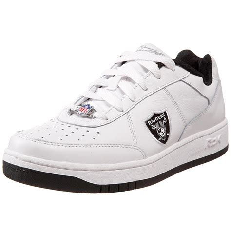 reebok s oakland raiders nfl recline athletic shoes