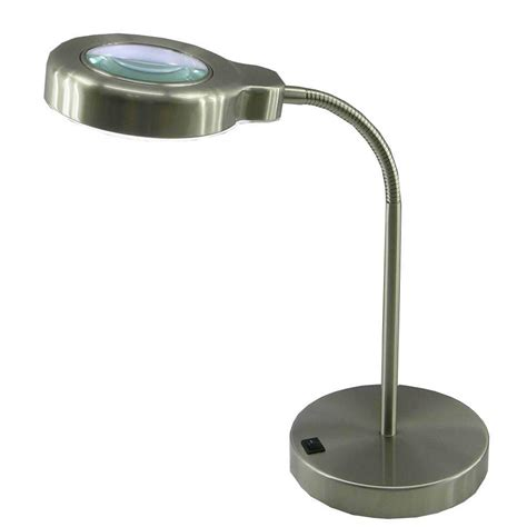 magnifying desk l home depot normande lighting 15 in brushed steel fluorescent