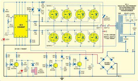 circuit diagram of 600va inverter free wiring