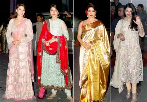 Aishwarya Post Wedding Ceremony by Aishwarya Priyanka Ranbir Dazzle At Shirin Uday S