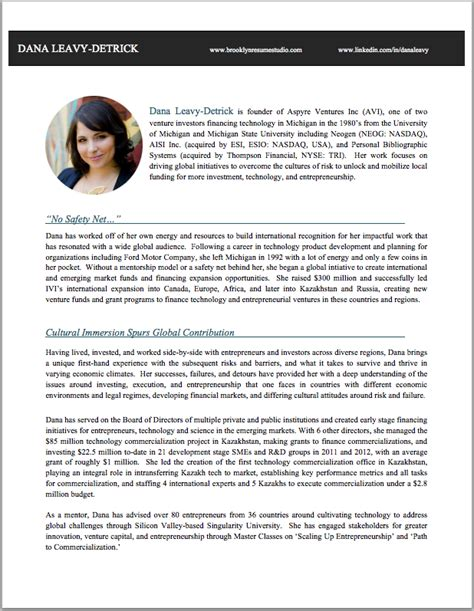 resume bio template bio exles for resume resume ideas