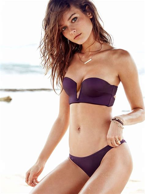 victorias secret model with bob haircutjnnnamnaasmtgyiuop long line plunge bandeau very sexy victoria s secret