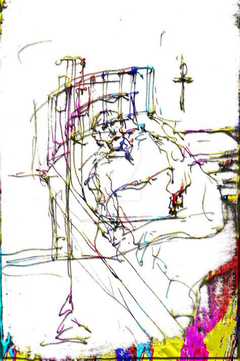 bed ridden bed ridden man white bckgrd by blakehenryrobson on deviantart