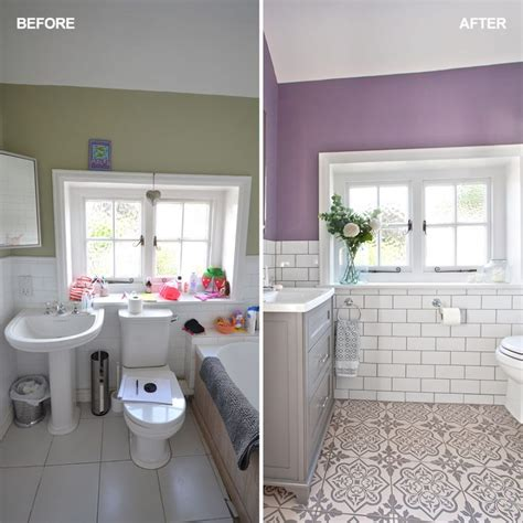 lilac and grey bathroom lilac and white bathroom makeover with metro tiles and shower
