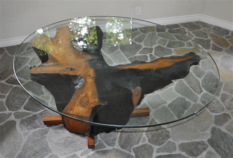 tree trunk l base stump coffee table considerable things for stump table
