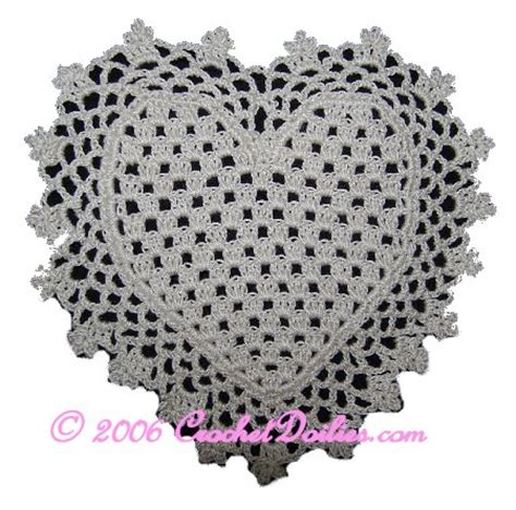 free pattern heart doily free filet crochet doily patterns quotes