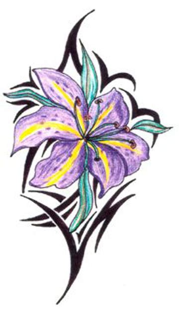 orchid tribal tattoos top cattleya drawing images for tattoos