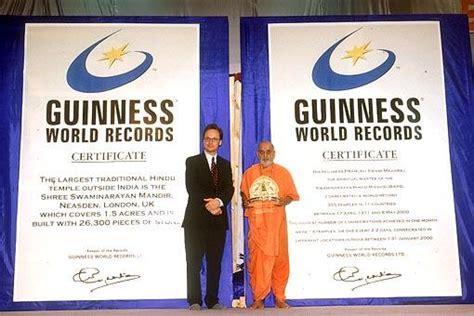 guinness world records 2002 pramukh swami maharaj an influential person guinness world records 2002 london uk