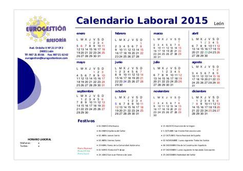 Calendario N 2015 Calendario Laboral 2015