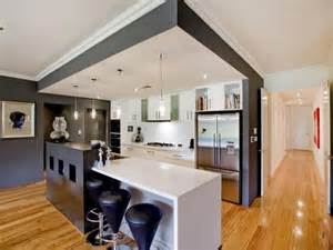 kitchen design idea bulkhead covering entire kitchen area