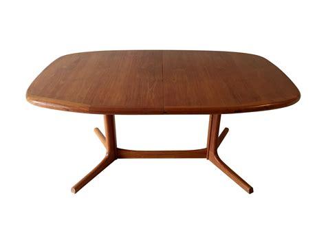 vintage dining table vintage dyrlund teak dining table chairish