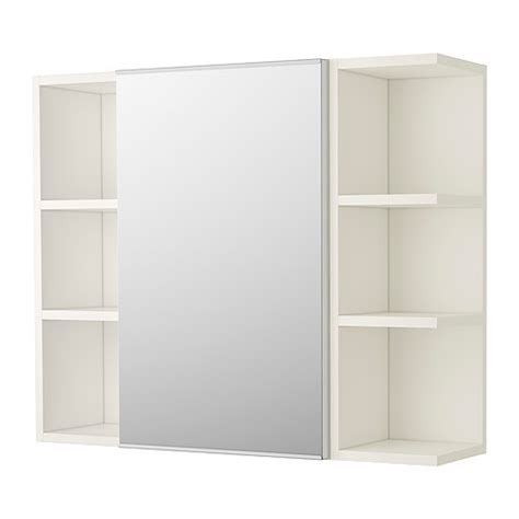 Ikea Bathroom Furniture Storage Lill 197 Ngen Mirror Cabinet 1 Door 2 End Units White Ikea