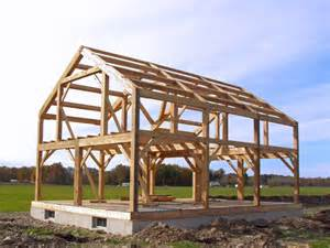 How To Build Gambrel Roof timber frame cabin photo gallery new heritage woodworking