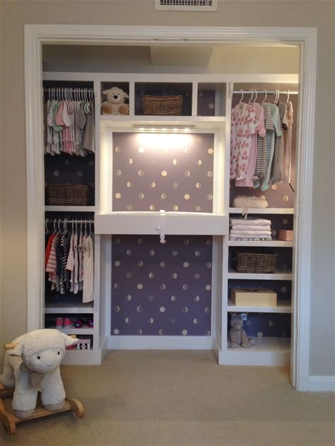 Nursery Closet Ideas by Nursery Closet With Built In Changing Table Baby Organized Functional Inspiration Nursery