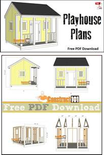 free house plans with material list playhouse plans pdf download construct101