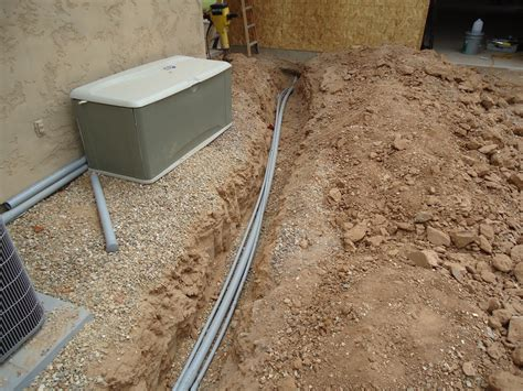 Plumbing Trench by Trenching For Plumbing And Electrical The Wood Whisperer