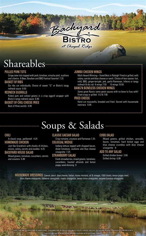 backyard bistro menu backyard bistro menu home design gogo papa