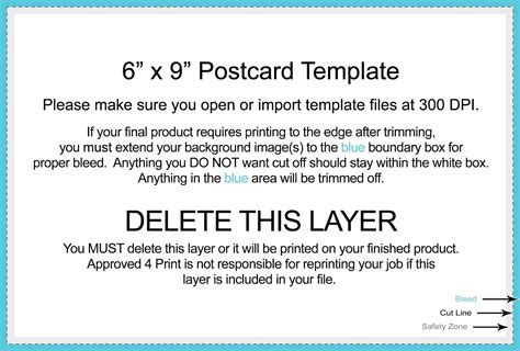 6x9 Postcard Template Photoshop Free Download D Templates 6x9 Postcard Template