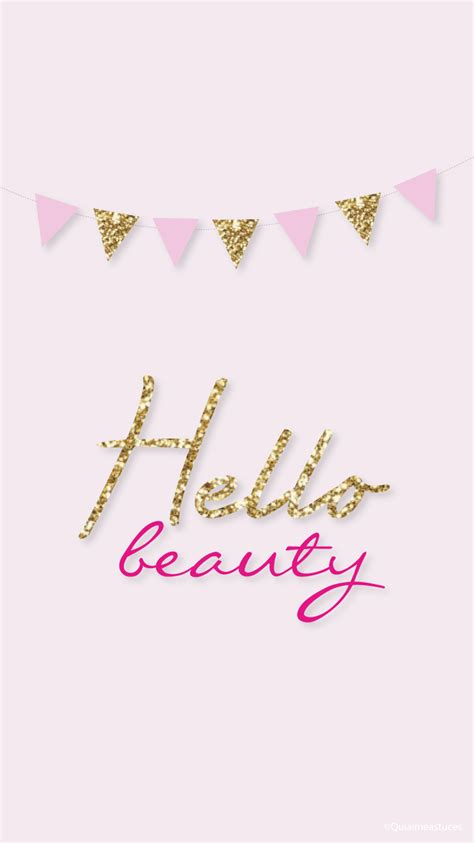 iphone themes gold hello beauty simple pink gold iphone lock wallpaper