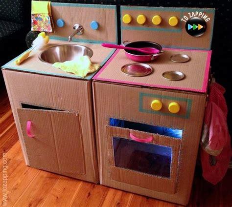 el juego de cocina c 243 mo hacer una cocina con cajas de cart 243 n juego de cocina