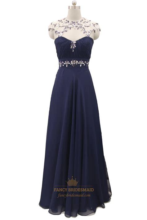 navy blue beaded prom dress navy blue beaded embellishment chiffon prom dresses