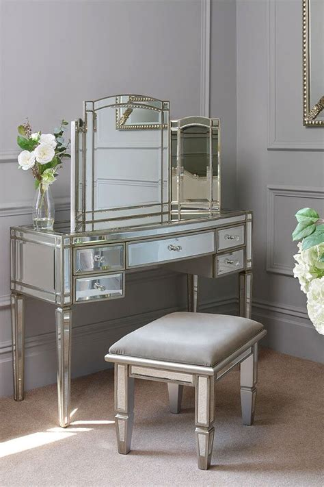 mirrored dressing table mirror antoinette toughened mirror dressing table curved