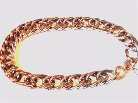 new solid copper chain link mens bracelet