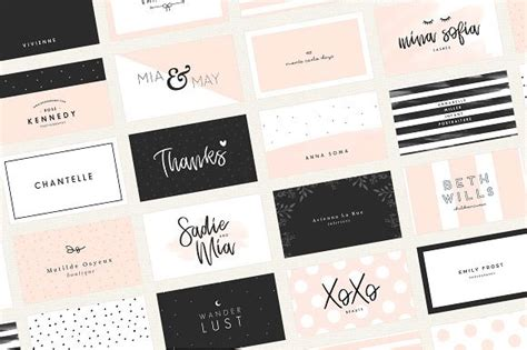 feminine business card template 30 superb modern business cards for professional