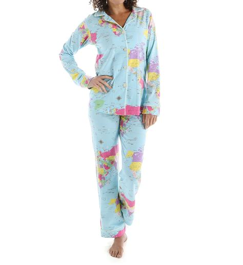 bed head pajamas bedhead pajamas around the world long sleeve classic pj