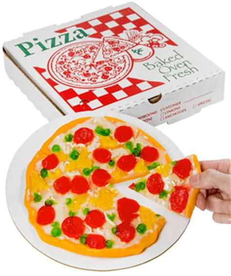 Yupi Marsmalow gummy pizza in a box delicious gummy in the shape of a pizza