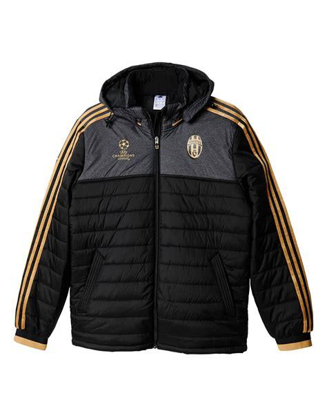 uefa fc juventus adidas padded jacket 2015 16 black ebay