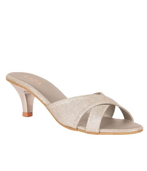 Liza Silver liza s synthetic silver heeled slip on price in