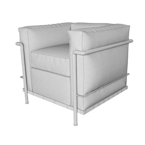 cassina armchair cassina lc2 armchair 3d model max obj fbx cgtrader com