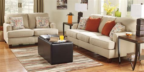 furniture in living room buy ashley furniture 1600038 1600035 set deshan birch living room set bringithomefurniture com