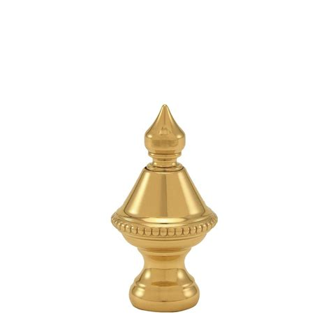mario industries 1 5 in h polished brass beaded knob l