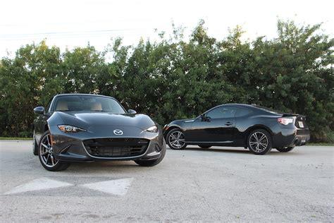 mazda mx 5 miata vs subaru brz affordable sports car battle